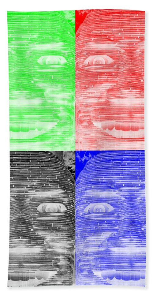 Architecture Bath Sheet featuring the photograph In Your Face In Negative Colors by Rob Hans