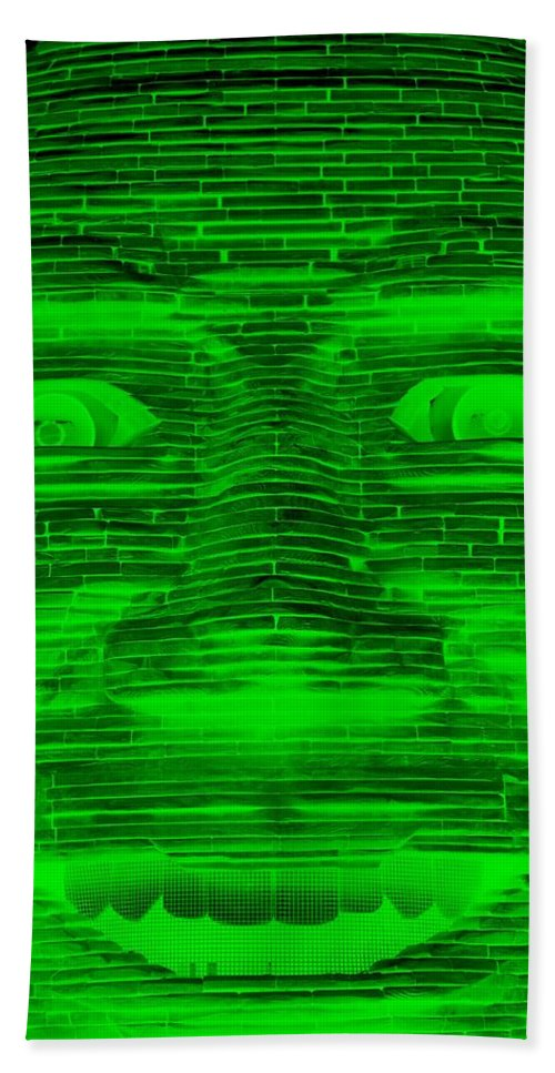 Architecture Bath Sheet featuring the photograph In Your Face In Negative Green by Rob Hans
