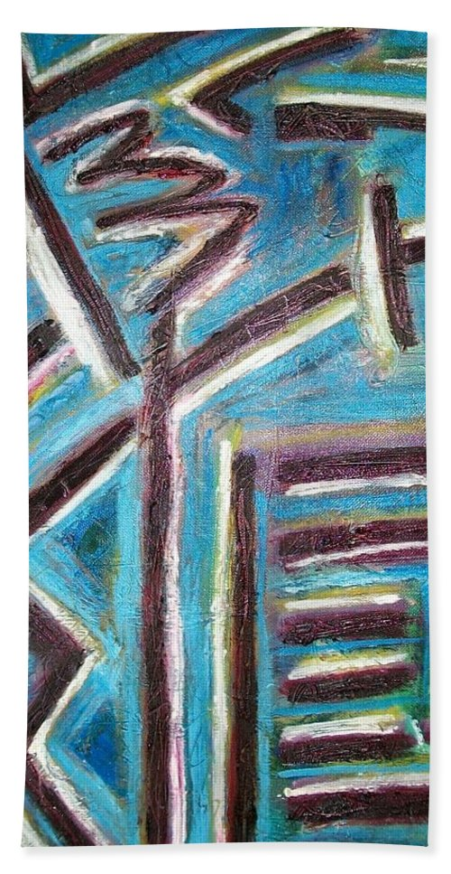 I Ching Bath Sheet featuring the relief Increase - I Ching by Kathy Augustine