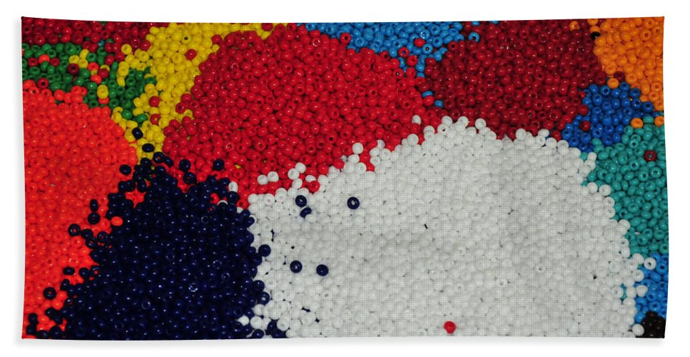 Indian Beads Hand Towel featuring the photograph Indian Beads by Paul Ward