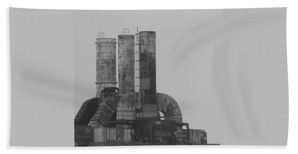 Smoke Stacks Hand Towel featuring the photograph Industry by Michele Nelson