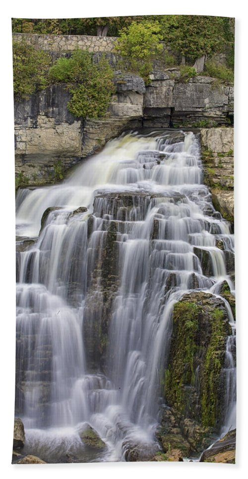 Canvas Bath Sheet featuring the photograph Inglis Falls by Phill Doherty