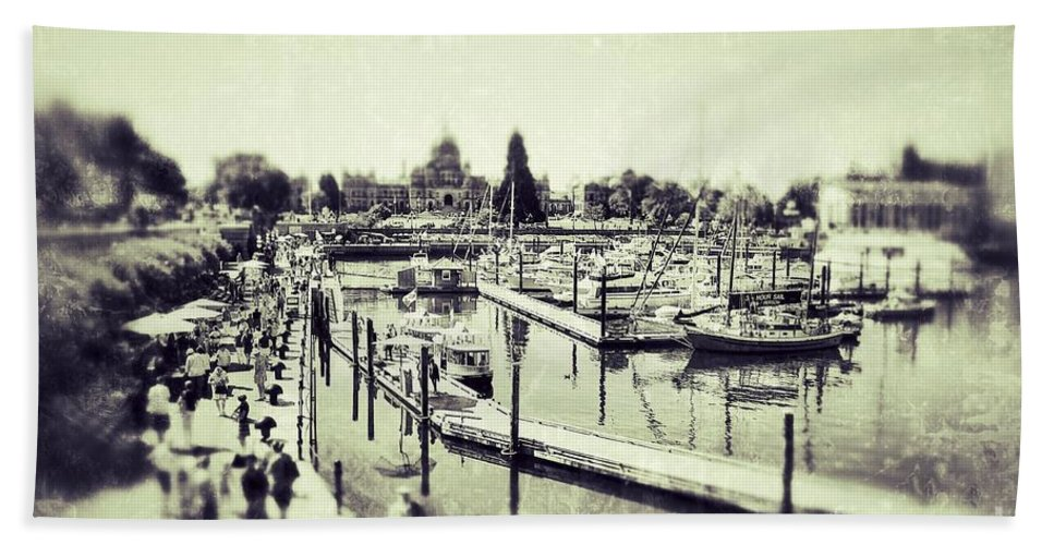 British Columbia Hand Towel featuring the photograph Inner Harbor by Traci Cottingham