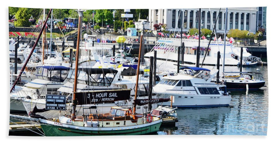 British Columbia Hand Towel featuring the photograph Inner Harbour by Traci Cottingham
