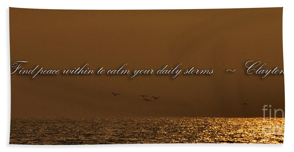 Clay Bath Sheet featuring the photograph Inner Peace by Clayton Bruster