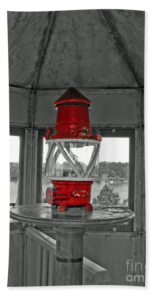 Lighthouse Hand Towel featuring the photograph Inside The Lighthouse Tower #2. Uostadvaris. Lithuania. by Ausra Huntington nee Paulauskaite