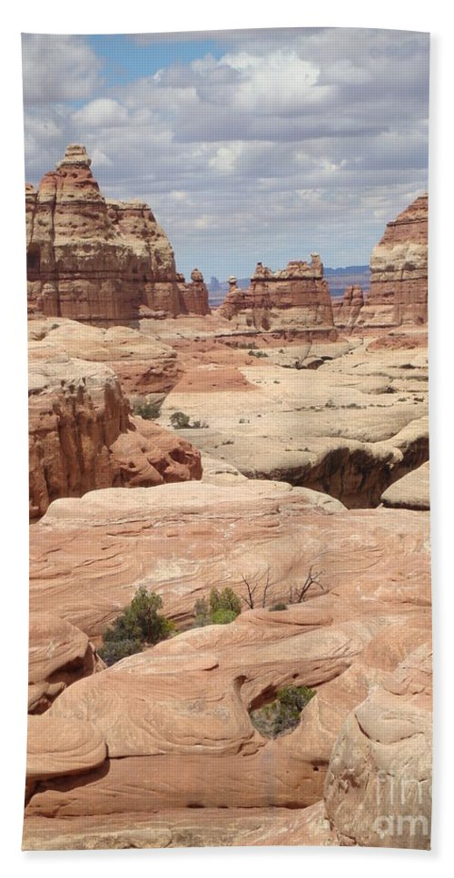 Nature Bath Sheet featuring the photograph Inside The Needles by Maili Page