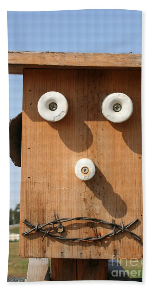 Outdoors Hand Towel featuring the photograph Insulator Eyed by Susan Herber