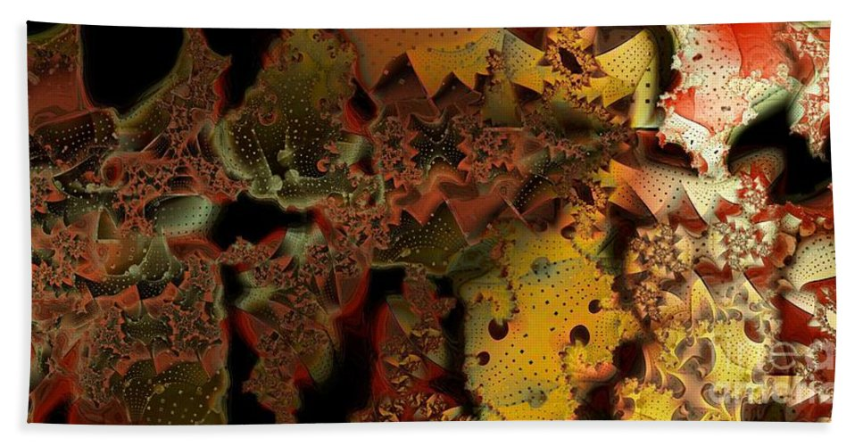 Abstract Hand Towel featuring the digital art Into The Light by Ron Bissett