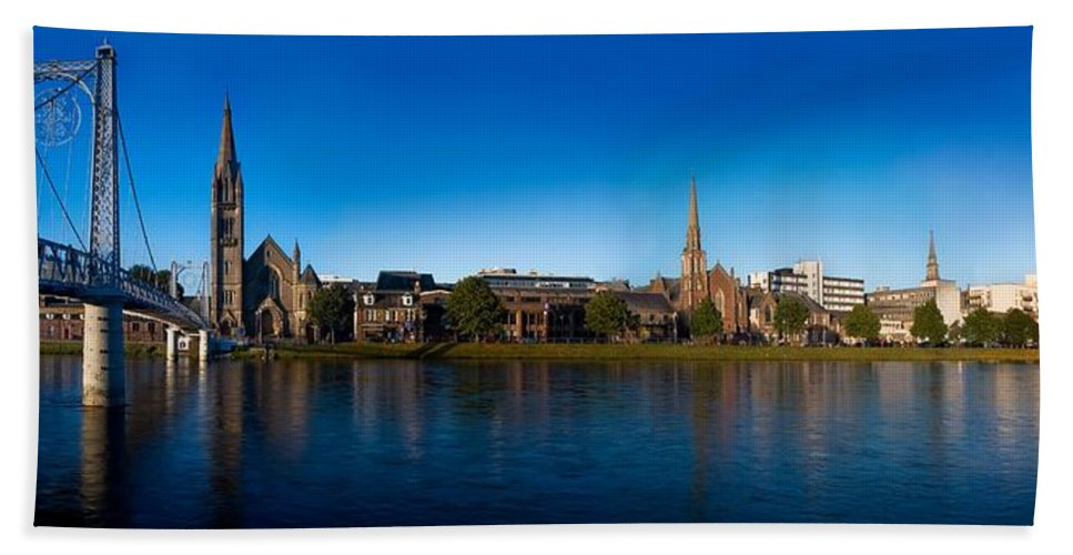 Inverness Hand Towel featuring the photograph Inverness Waterfront by Joe Macrae