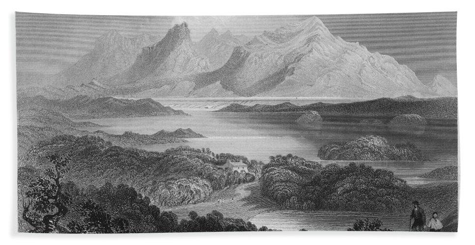 1840 Hand Towel featuring the photograph Ireland: Garromin Lake by Granger