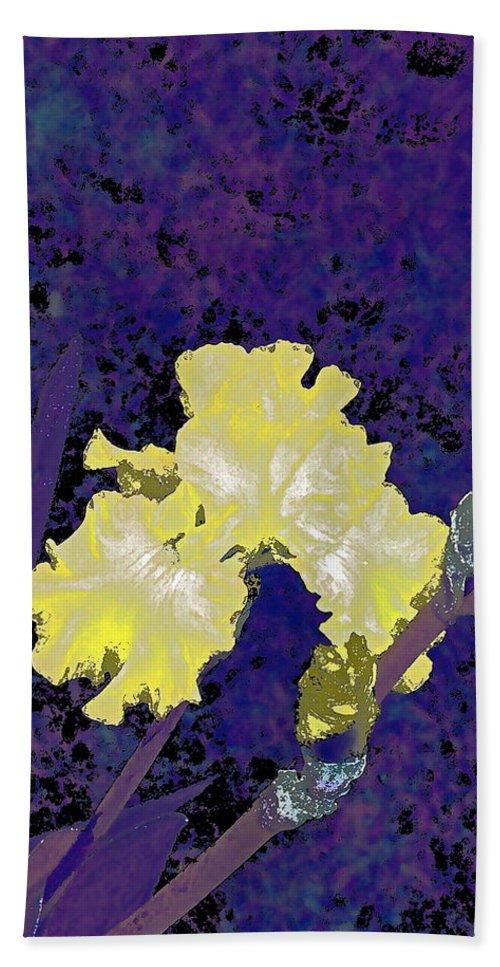 Floral Bath Sheet featuring the photograph Iris 36 by Pamela Cooper
