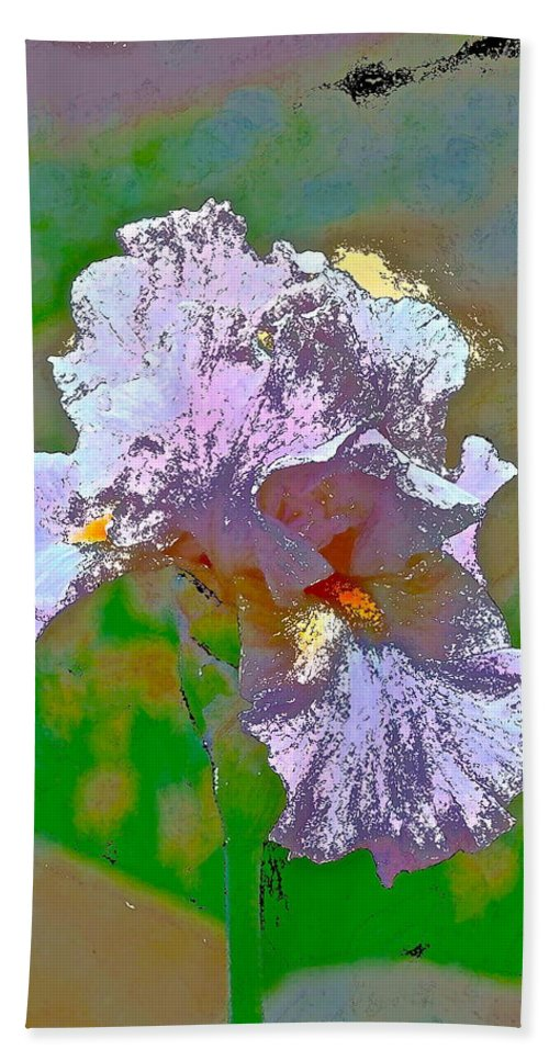 Floral Hand Towel featuring the photograph Iris 45 by Pamela Cooper