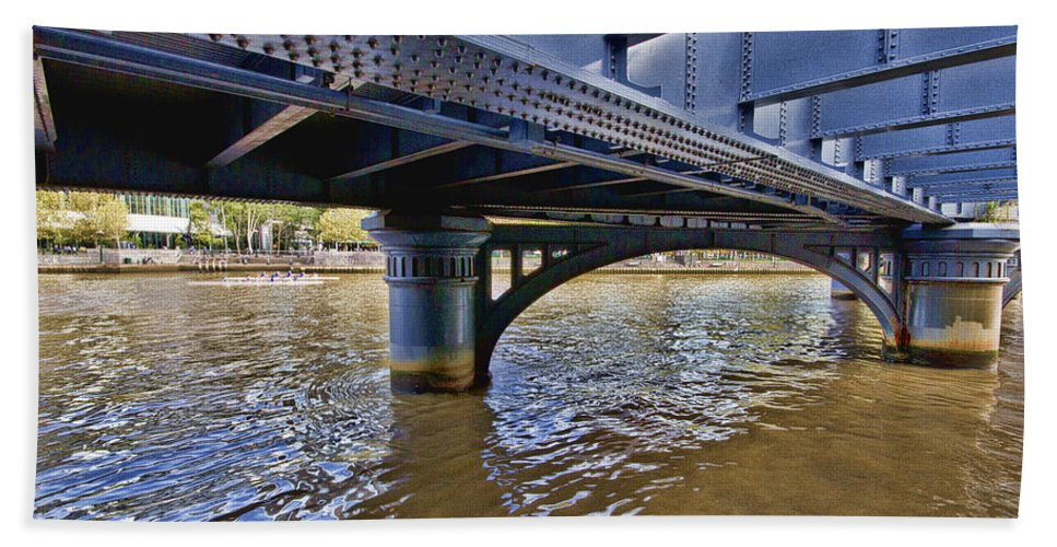 Bridge Bath Sheet featuring the photograph Iron Bridge by Douglas Barnard