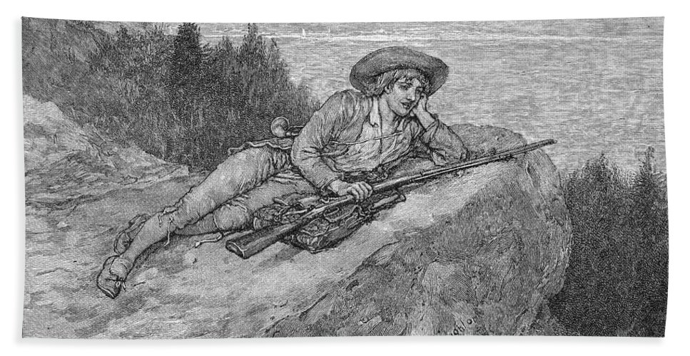 19th Century Bath Sheet featuring the photograph Irving: Rip Van Winkle by Granger