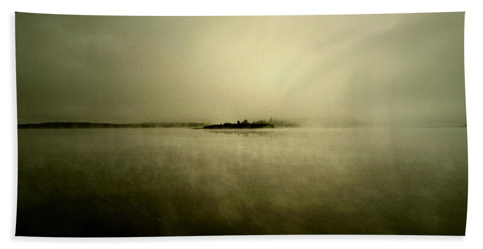 Photographer Framed Prints Bath Sheet featuring the photograph Island Of Mystic by The Artist Project