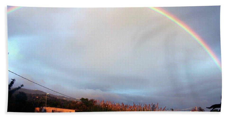 Rainbow Hand Towel featuring the photograph Italian Rainbow by La Dolce Vita