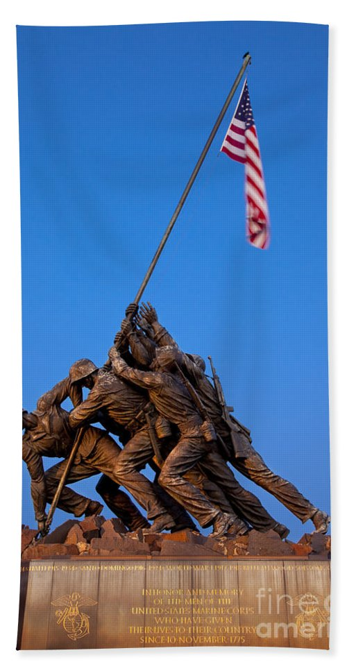 Iwo Jima Hand Towel featuring the photograph Iwo Jima Memorial by Brian Jannsen