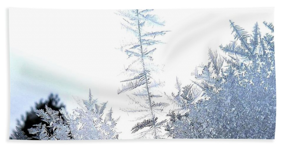 Winter Bath Sheet featuring the photograph Jack Frost's Ice Forest by Will Borden