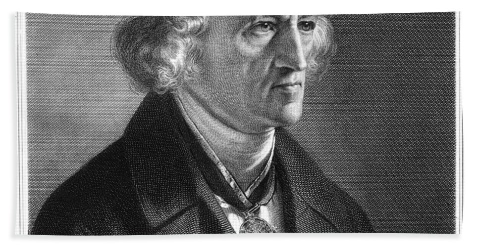 19th Century Bath Sheet featuring the photograph Jacob Grimm (1785-1863) by Granger