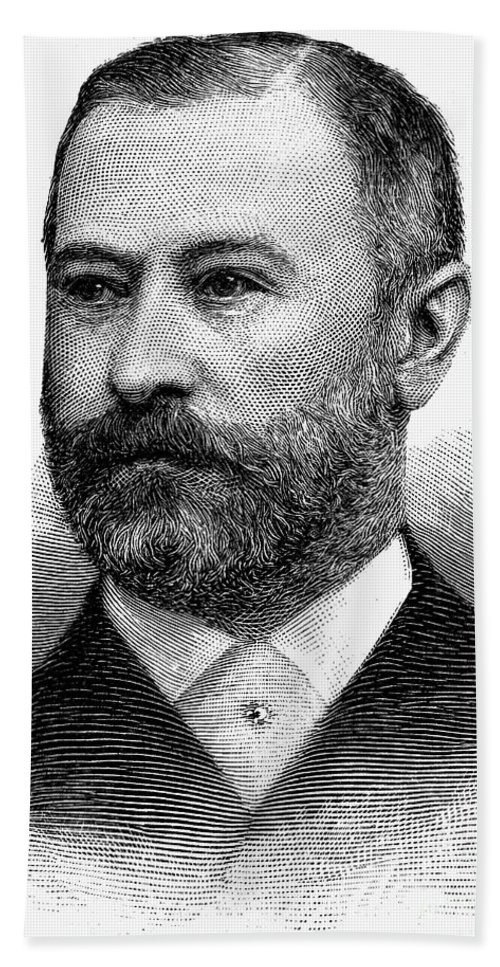 1891 Hand Towel featuring the photograph Jacob Henry Schiff by Granger