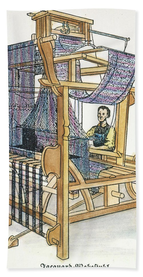18th Century Bath Sheet featuring the photograph Jacquard Loom by Granger