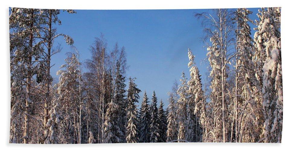 Lehtokukka Bath Sheet featuring the photograph January Nr 3 by Jouko Lehto