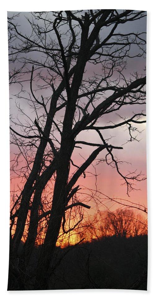 Sunrise Bath Sheet featuring the photograph January Sunrise 3 by Teresa Mucha
