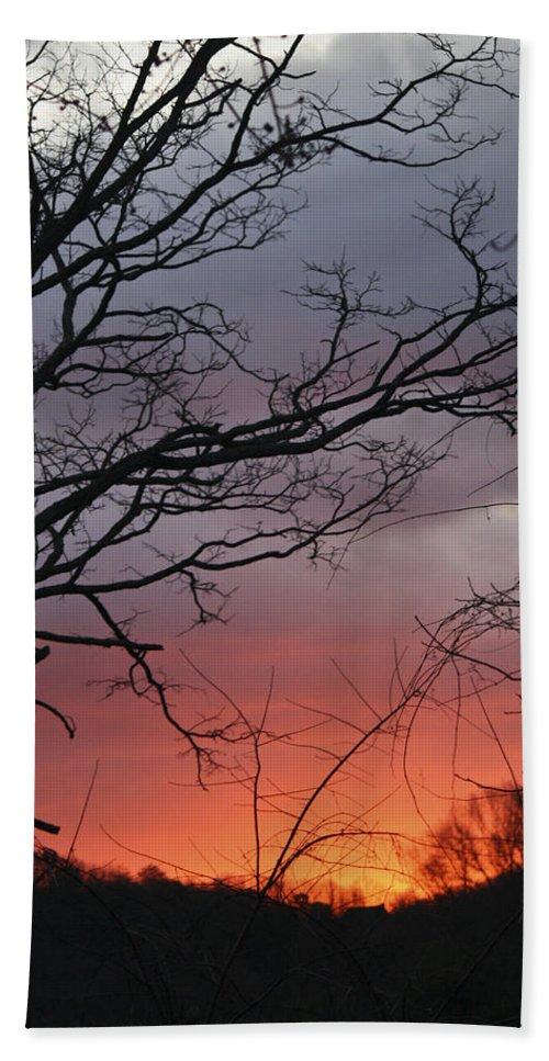 Sunrise Bath Sheet featuring the photograph January Sunrise 4 by Teresa Mucha