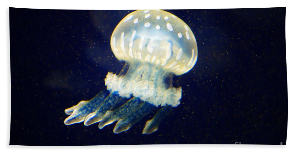 Jelly Fish Bath Sheet featuring the photograph Jelly Fish by Randy Harris