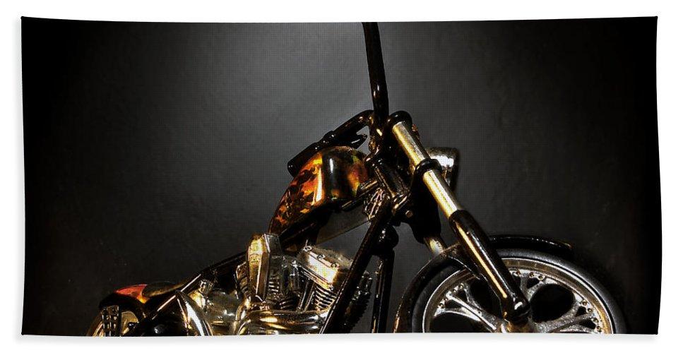 Bath Towel featuring the photograph Jesse James Bike 2 Detroit MI by Nicholas Grunas