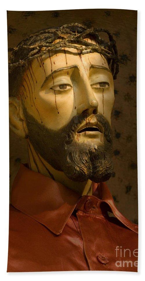 Jesus Bath Sheet featuring the photograph Jesus Christ San Xavier Del Bac by Bob Christopher