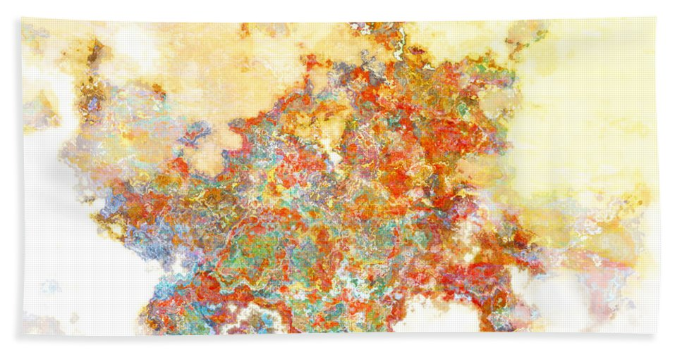 Abstract Bath Sheet featuring the digital art Jeweltone by Debbie Portwood