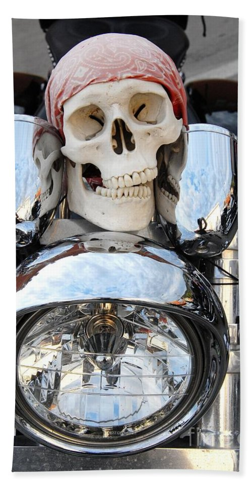 Skull Bath Sheet featuring the photograph Jimmy Bones by Anthony Wilkening