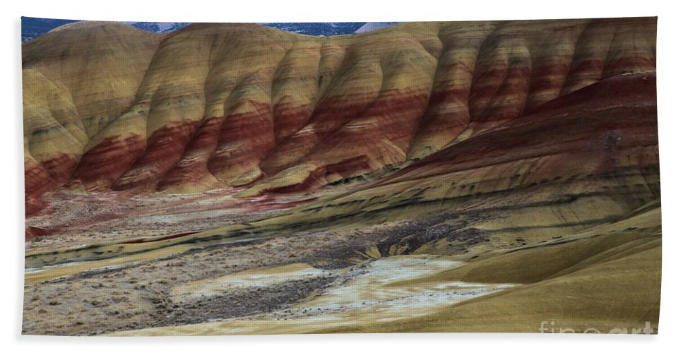John Day Fossil Beds Hand Towel featuring the photograph John Day Painted Hills by Adam Jewell