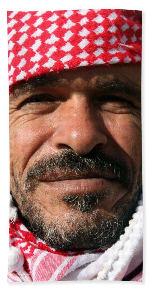 Jordan Hand Towel featuring the photograph Jordanian Man by Munir Alawi