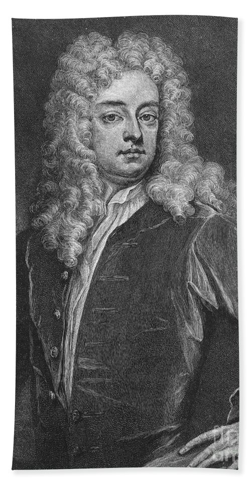 18th Century Hand Towel featuring the photograph Joseph Addison (1672-1719) by Granger