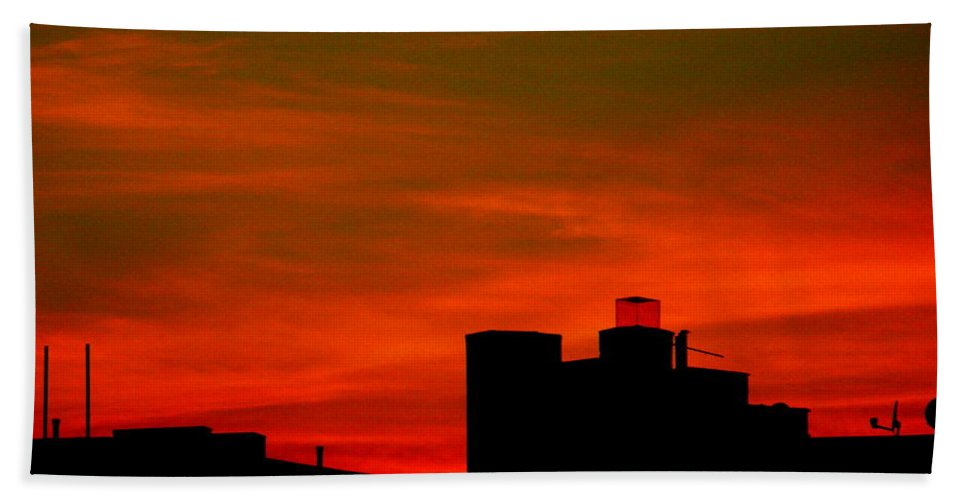 Sunset Bath Sheet featuring the photograph June 2 2009 by Mark Gilman