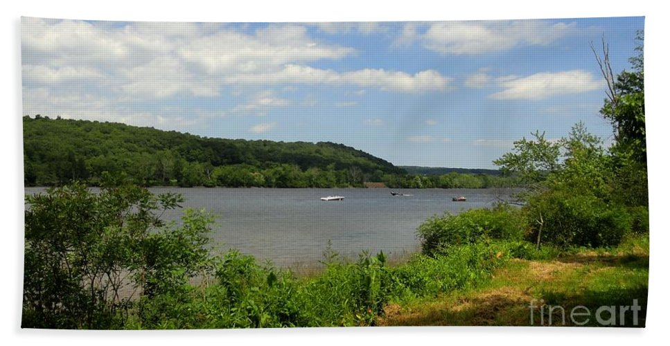 Connecticut Bath Sheet featuring the photograph June Along The Connecticut River by Meandering Photography