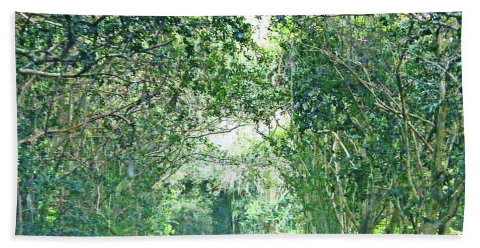 Tobasco Bath Sheet featuring the photograph Jungle Drive Avery Island La by Lizi Beard-Ward