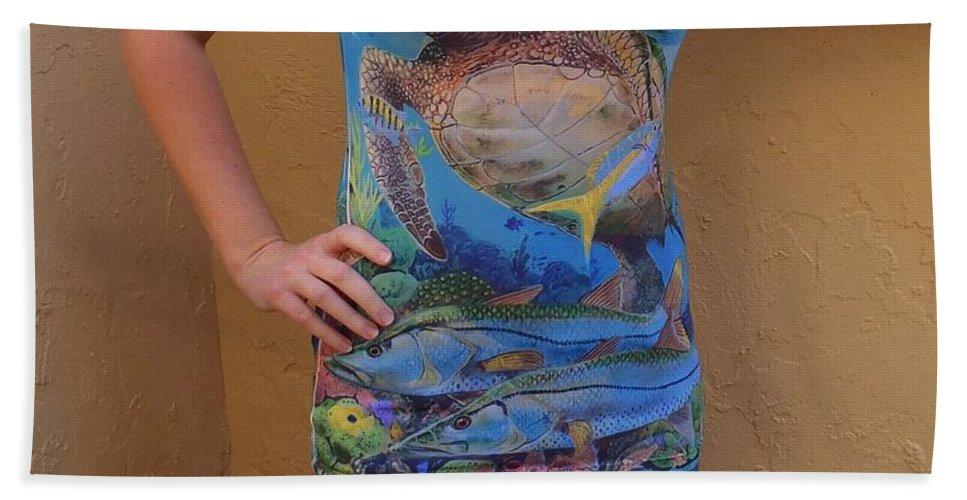 Shirts Hand Towel featuring the digital art Jupiter Performance Ladies Shirt by Carey Chen
