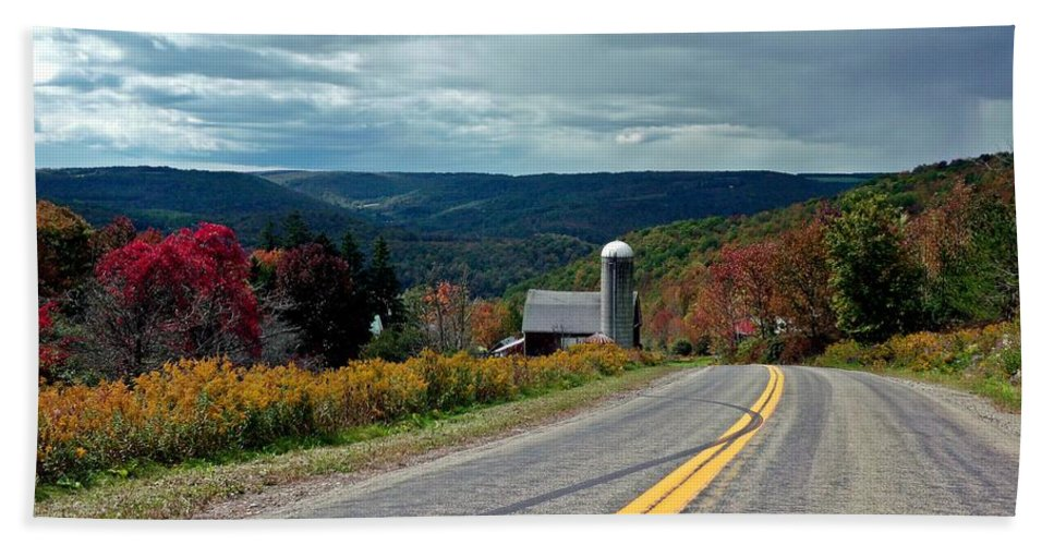Farm Hand Towel featuring the photograph Just Below Heaven by Christian Mattison