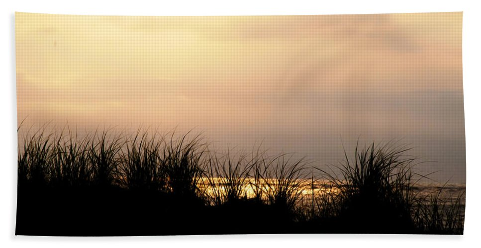 Just Over The Dune Hand Towel featuring the photograph Just Over The Dune by Bill Cannon