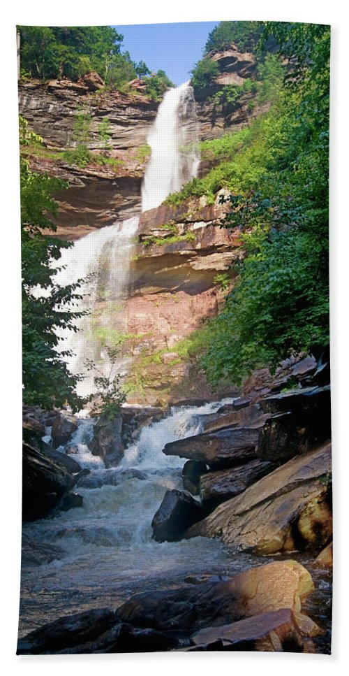 Catskills Hand Towel featuring the photograph Kaaterskill Falls by Paul Mangold