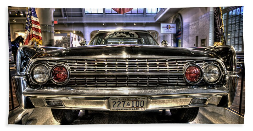 Hand Towel featuring the photograph Kennedy Limo by Nicholas Grunas