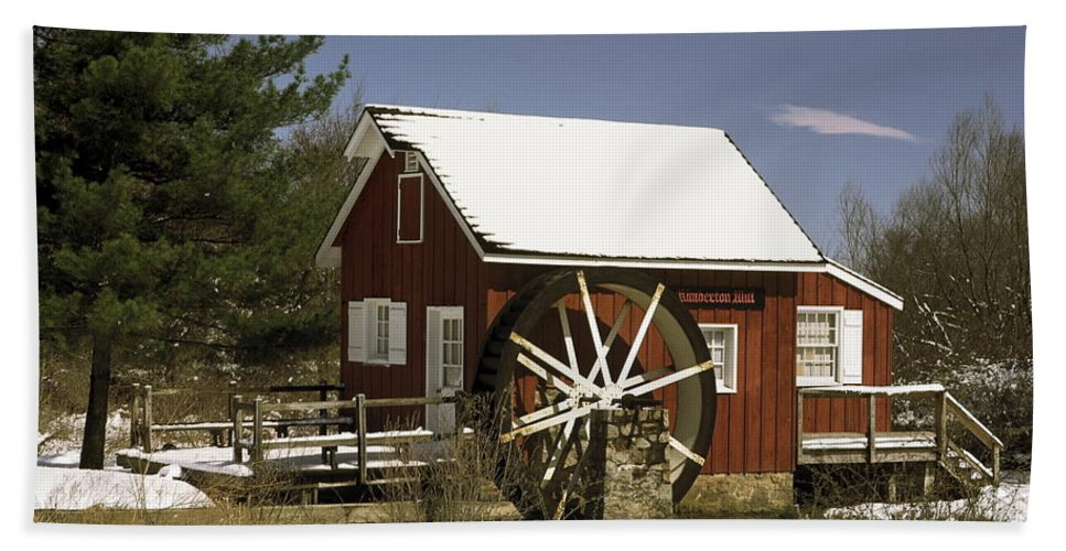 Kimberton Mill Bath Sheet featuring the photograph Kimberton Mill by Sally Weigand