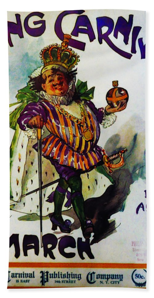 King Carnaval March - Mardi Gras Hand Towel featuring the photograph King Carnaval March - Mardi Gras by Bill Cannon