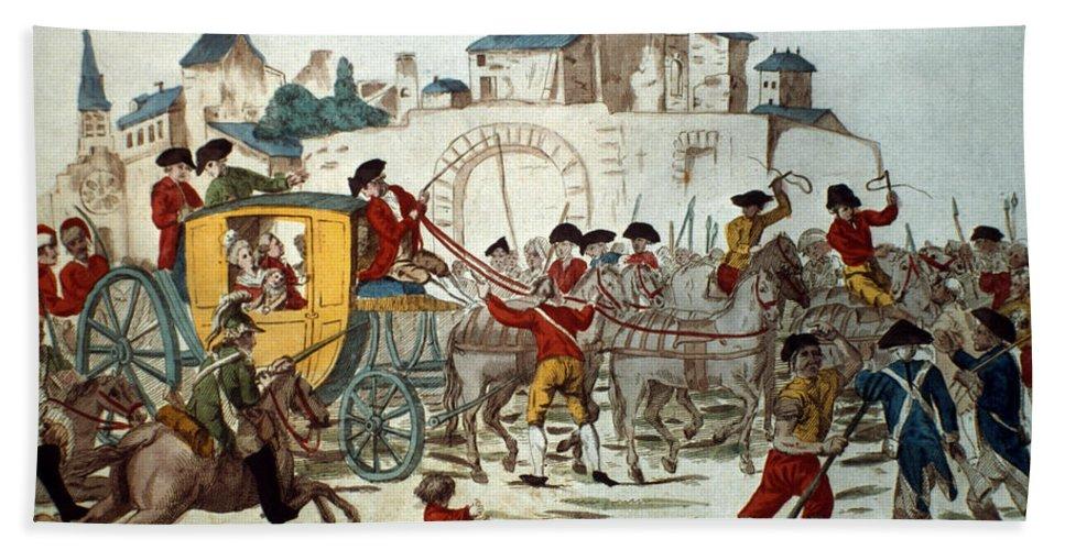 1791 Bath Sheet featuring the photograph King Louis Xvi: Arrest by Granger