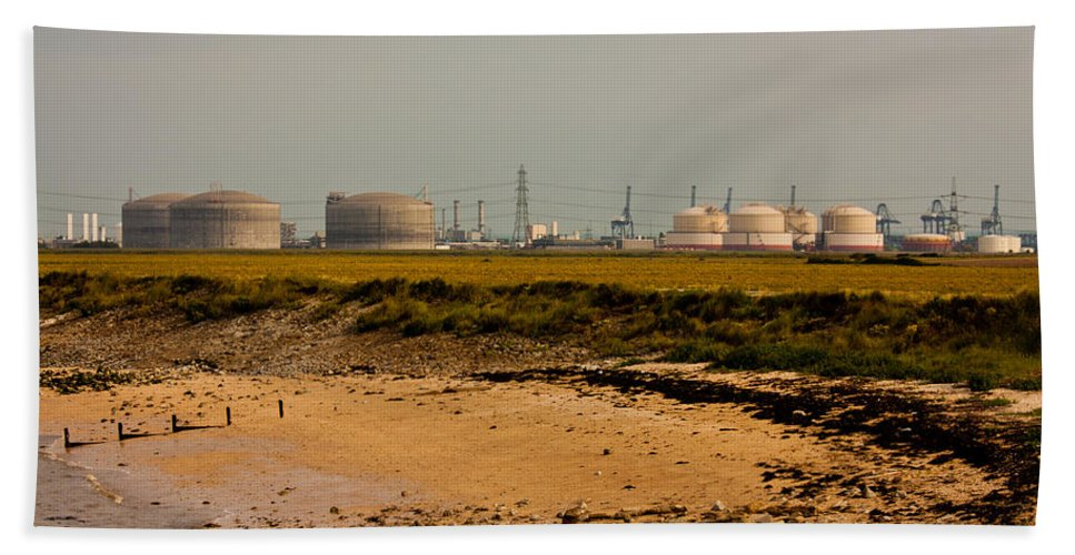 All Hallows Bath Sheet featuring the photograph Kingsnorth Power Station by Dawn OConnor