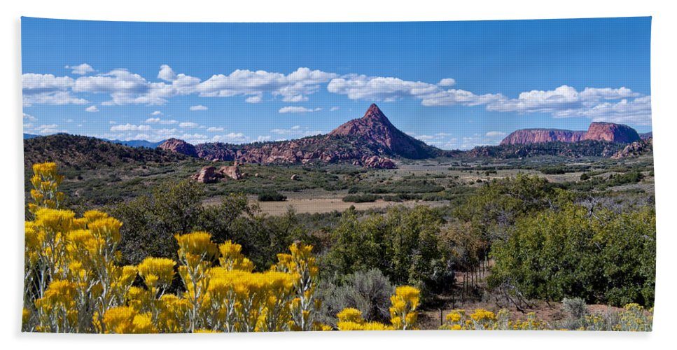 Kolob Terrace Bath Sheet featuring the photograph Kolob Terrace Afternoon by Mike Herdering